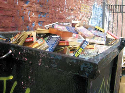 trash books